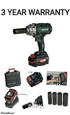 Parkside Allemand Speed 20v Cordless Vehicle Impact Wrench Gun & Battery & Charger