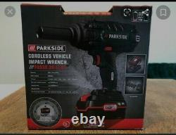 Parkside Cordless 20v Impact Nut Gun Wrench & Sockets Facture De Garantie De 3 Ans