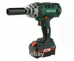 Parkside Cordless Vehicle Impact Gun Wrench Est Livré Avec Batterie 4ah & Chargeur