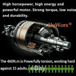 Pistolet À Clé À Choc Électrique Pour Usage Intensif 1/2 Entraînement 460nm + 4 Prises Et 2 Batteries