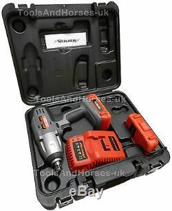 Pistolet À Clé À Impact Sans Fil 24v Li-ion 1 / 2dr 2 Supports De Roue En Alliage Des Batteries 3pc