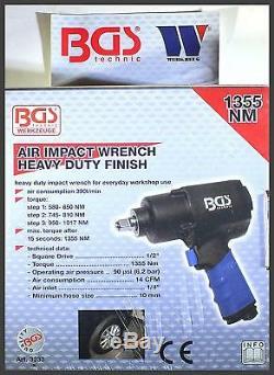 Pistolet À Cliquetis 1355nm Pour Clé À Percussion 1 / 2drive Air Impact De Bgs Germany Most
