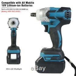 Pour Makita Batterie Dtw 251 Sans Fil Couple Brushless Clé À Chocs 1/2 Gun Uk