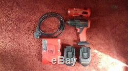 Pression Sur Le Pistolet Set 1/2 + Choc 3/8 Avec Chargeur Et 2 Batteries + Couvre Clé X2