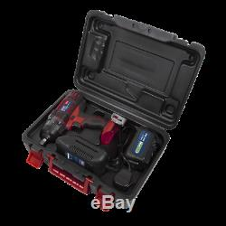 Sealey 18v Sans Fil 1/2 Clé À Chocs Cp400li Gun 3ah Li-ion Chargeur De Batterie