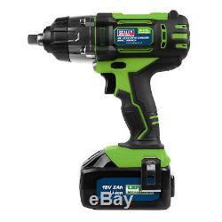 Sealey 18v Sans Fil 1/2 Clé À Chocs Cp400lihv Gun 3ah Li-ion Chargeur De Batterie