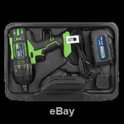 Sealey Cp400lihv 18volt Sans Fil Clé À Chocs 1/2 Gun 3ah Li-ion Rechargeable + Cha