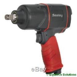 Sealey Tools Gsa6006 Pistolet À Clé À Air À 1/2 Entraînement Pistolet À Deux Écrous Marteau Nouveau
