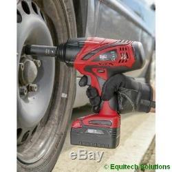 Sealey Tools Pistolet À Clé À Chocs Sans Fil 18 Entraînements 1/2 Po Cp3005 Avec 2 Batteries