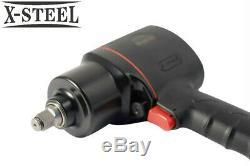 Selta Taiwan 1/2 Dr Air Impact Wrench 820 Ftlb Gun Marteau + Socket Et Accessoires