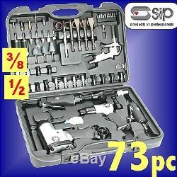 Sip 07197 Pro 73pc Air Tool Kit Meuleuse Clé À Chocs Marteau À Cliquet Soufflette