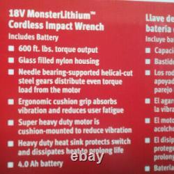 Snap On 18v-1/2 Corps Monsterlithium Sans Fil Gun Impact Clé Cteu8850awb
