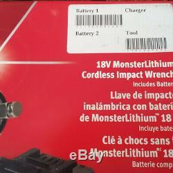 Snap On 18v-1/2 Lecteur Monsterlithium Sans Fil D'impact Gun Clé Cteu8850awb. Nouveau