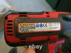 Snap On 18v Impact Wrench Gun Charger Avec Bottes 1/2 Inch Cteu7850