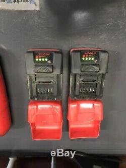 Snap On 18v Lithium 1/2 Clé À Chocs Entraînement Pistolet Cteu8850ao 2x Batterys Chargeur