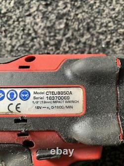 Snap On 1/2 18v Cordless Impact Wrench Gun Monster Lithium Cteu8850 Corps Seulement