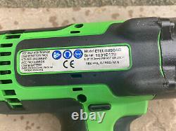 Snap On 1/2 18v Impact Wrench Gun Green Neon Cteu8850ag Ct8850 À Peine Utilisé