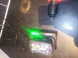 Snap On 3/8 Gun Impact Clé Avec Deux Batteries, Chargeur De Batterie, Sac De Transport