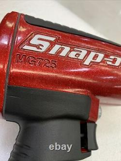 Snap On Mg725 1/2 Inch Drive Impact Wrench Gun Metallic Red - Gold Flakes Nouveau