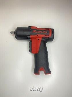 Snap On Tools 14.4v Microlithium Sans Fil 3/8 Clé À Impact Corps Rouge Ct761