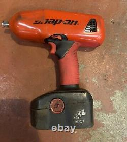 Snap On Tools 18v 1/2 Drive Impact Wrench Gun + 3 Batteries Récemment Refurb