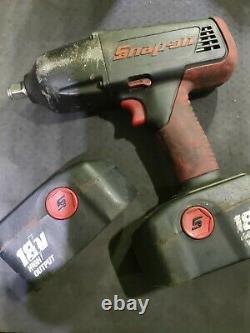 Snap On Tools 18v Cordless 1/2 Drive Impact Wrench Gun + 2 Batteries Etc (337)
