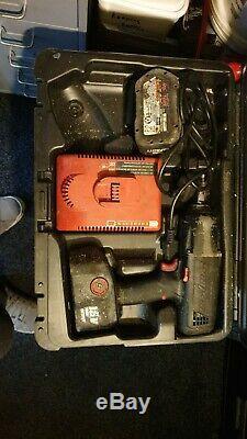 Snap-on 1/2 18v Sans Fil Clé À Chocs Arme À Feu, 2 X Batteries Et Cas