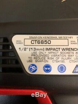 Snap-on Ct6850 18v 1/2 Clé À Chocs Pistolet Avec Deux Batteries Et Le Chargeur 18v