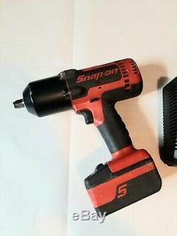 Snap-on De 1/2 Sans Fil D'impact Gun Clé Ct8850 Avec Chargeur De Batterie Et Double