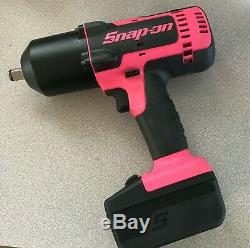 Snap-on Lithium Ion Ct8850 18v 18 Volt Sans Fil 1/2 Clé À Chocs / Gun Rose