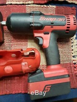 Snap-on Lithium Ion Ct8850 1/2 Clé À Chocs Gun Deux Batt. & Chargeur Grand Cond