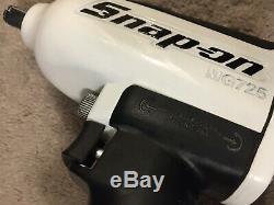 Snap-on Super Duty Impact Pistolet À Air Clé Mg725 1/2 Mesure Poudré Blanc