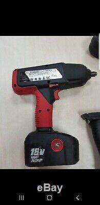 Snap-on Tools Haute De Sortie 1/2 À Chocs Sans Fil Clé Gun 2 Piles