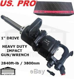 Us Pro Outils 1 Pouce D'entraînement Pistolet Air Clé À Chocs 8 Anvil-lb 2800 Pi 3800nm 8532